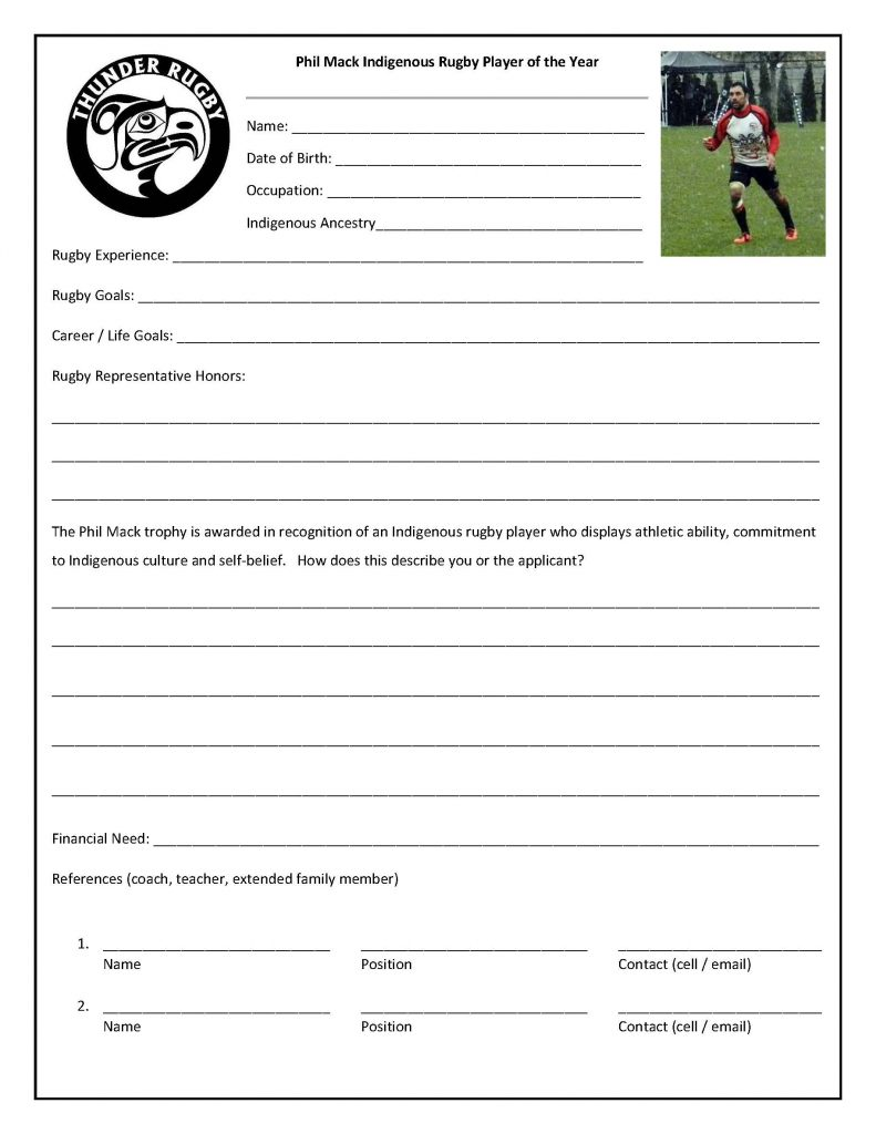 Phil Mack Trophy Application
