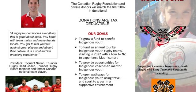 On National Indigenous Peoples Day it merits looking at what rugby is doing to help Indigenous Peoples in BC. That conversation would quickly turn to the Thunder Indigenous Rugby organization […]